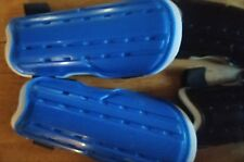 2 pairs of Youth Soccer Shin Guards, new, unbranded, black & blue