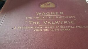 WAGNER THE RING OF THE NIBELUNGS THE VALKURE ALBERT COATES HMV D1320-33