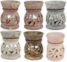 Decorative Essential Oil Burner Tea Light Holder Soapstone Diffuser For YOGA