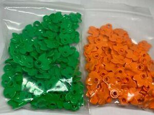New - LEGO 100 3 Leaves / Plant - 32607 - Bright Green or Orange