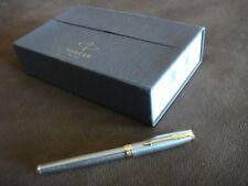Parker Sonnet Fountain Pen - Chiseled Silver Gold Trim