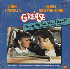 45TRS VINYL 7''/ BELGIAN SP BO FILM GREASE / JOHN TRAVOLTA / OLIVIA NEWTON-JOHN