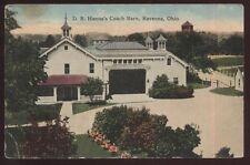 Postcard RAVENNA Ohio/OH  D.R. Hanna's Coach/Horse Barn view 1907
