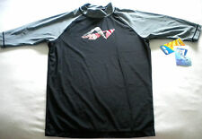 NWT Men's KANU Surf RASHGUARD WETSUIT Swim SHIRT UPF 50 Black Gray MEDIUM