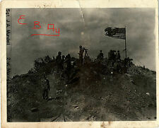 WWII  D-DAY IWO JIMA 3RD MARINES DIV 21ST ON TOP MT SURIBACHI 5X7 PHOTO