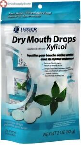 Hager Dry Mouth Drops Mint Lozenges 2 oz bag