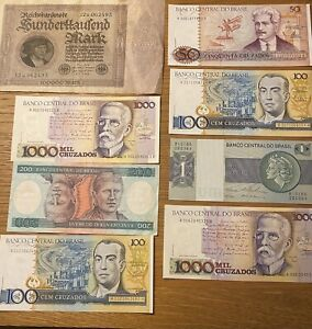 Banknotes Germany 100,000 Marks 1923 Brazil Unc Notes