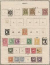 SERBIA: 1866-1914 Examples - Ex-Old Time Collection - 3 Sides Page (36030)