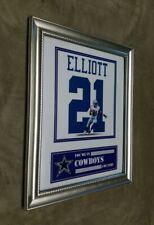 Ezekiel Elliott Dallas Cowboys 8x10 Framed Jersey Photo