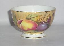 Aynsley China Small Sugar Bowl  (Pre Orchard Gold) Fruit Pattern, N. Brunt