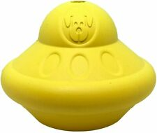 Spotnik Flying Saucer Durable Rubber Chew Toy & Treat Dispenser-L-YLW- SNFS1-700