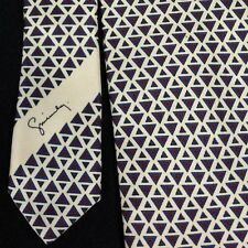 GIVENCHY MONSIEUR Mens Necktie 100% Silk LS Ayres & Co Tag on Tie Triangles EUC