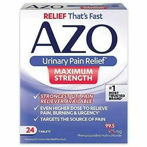 [3-Pack] AZO Urinary Pain Relief - Fast Relief of UTI Pain, 24 Tablets X3