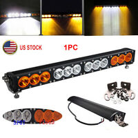 21.9'' 120W LED Work Light Bar Spot Flood Combo Amber White Offroad 4WD ATV SUV