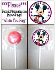 24 Mickey Mouse Clubhouse Birthday Party Baby Shower Lollipop Labels Stickers