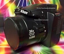 FRONT SLIP-ON PUSH-UP LENS CAP DIRECTLY to CAMERA NIKON COOLPIX P500 P 500+HOLDR