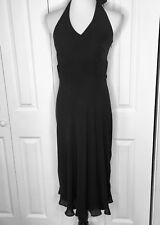Ann Taylor NEW Halter silk dress black sz 6 empire waist cocktail lined