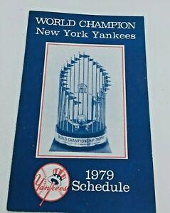 1979 New York Yankees Baseball Schedule Ballentine Beer #D