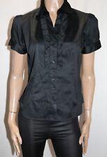 Rockmans Brand Black Ruffled Short Sleeve Blouse Shirt Size 12 BNWT #TN67