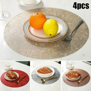 4 X PVC Hot Stamping Heat Insulation Western HIGH END Food Mats Placemats