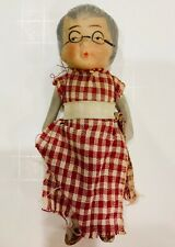 Vintage Bisque Doll - Old Woman Who Lived in a Shoe Nursery Rhyme Character
