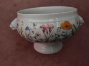Seltmann Weiden Jasmin / Summer Flowers 6 X Soup Bowls with lions heads!