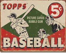"TOPPS  BASEBALL 1955, 5 Cent  Bubble Gum Retro/ Vintage, Metal, Tin Sign 16""x12"""