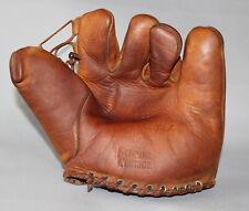 Antique Vintage 1940's Guardian Brand Bobby Mattick split finger baseball glove