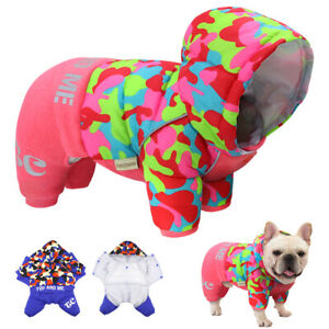 Winter Dog Coats Snowsuit Hooded Jumpsuit French Bulldog Apparel Clothes Outfits