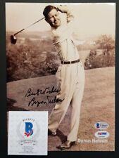 BYRON NELSON Autographed MASTERS, PGA, U.S OPEN CHAMPION 8x10 Photo. BECKETT