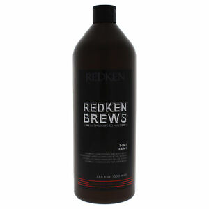 Redken Brews 3-in-1 Shampoo Conditioner Body Wash 33.8oz