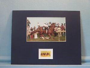 Triple Crown Winner Secretariat wins the Preakness & the Horse Racing Stamp