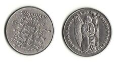 """Guardian Angel for Protection Silver plate 1-1/4"""" dia. Pocket Token Coin 2 Sided"""