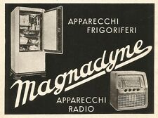 W2820 MAGNADYNE - Radio e Frigoriferi - Pubblicità del 1939 - Old advertising