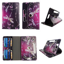 "tablet case for 10 inch cover universal 10""cases rotating stand cash card slots"