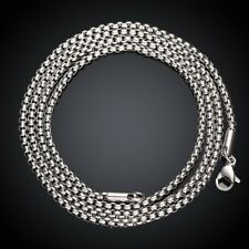 Stainless Steel Necklace Chain Rolo Box Chain Lobster Clasp B203