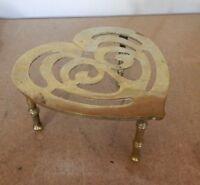 Antique Celtic  Love Heart Trivet Fireside Kettle Stand 15 x 16 x 9 cm's