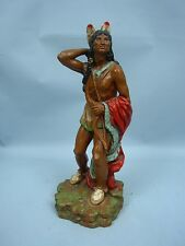 "14"" Indian Warrior Statue by Universal Statuary 1976"