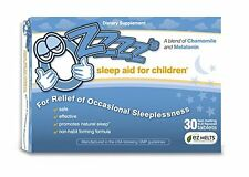 OZzzz's Sleep Aid for Children-30 Fruit Flavored, EZ Melts (fast-melting)Tablets