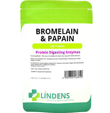 Bromelain & Papain 10/100mg - healthy digestion (100 tablets) Lindens