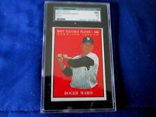"1961 ""ROGER MARIS - MVP TOPPS CARD #478 PROFESSION GRADED EX 5"