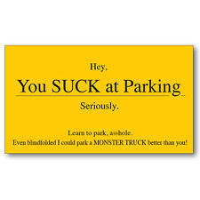 250 Parking Cards Funny Gift You Suck Fake Bad Novelty Prank Gag Practical