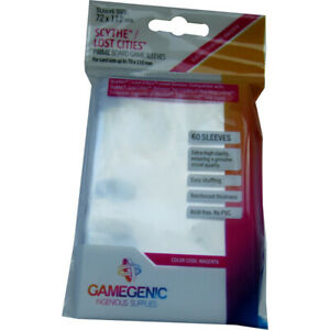 GameGenic Prime Board Sleeves Scythe / Lost Cities 72 x 112 mm / 60 Sleeves p. p