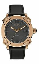 Bulova Accu Swiss Men's 64B129 Pecheron Automatic Rose Gold Case 42.5mm Watch