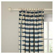 Scion Shibori Lined Pencil Pleat Curtains Blue W167cm x L137cm