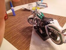Franklin Mint  1958 Harley Duo Glide Green/white  die cast 1:10