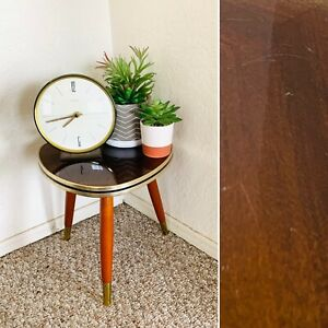 50s Mid Century Plant Stand Table Tripod Side End Table Vintage Atomic