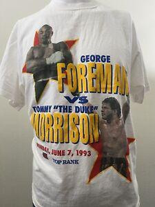 George Foreman V Tommy The Duke Morrison Star Spangled Battle Vintage Boxing Tee