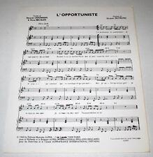 Partition vintage sheet music JACQUES DUTRONC : L'Opportuniste * 60's