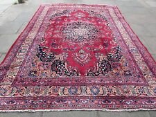 Old Hand Made Traditional Persian Rugs Oriental Wool Red Blue Carpet 340x251cm